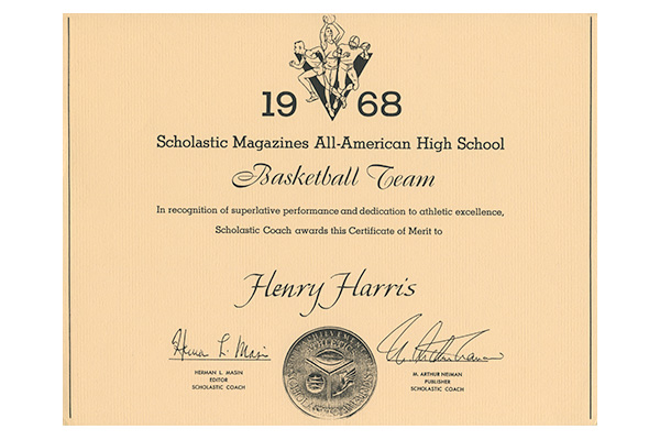 Henry Harris All-American