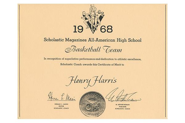 Henry Harris All-American